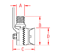 Antenna Rail Mount Drawing