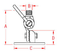 Antenna Ratchet Mount Drawing