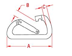 Asymmetrical Spring Clip Drawing