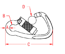Auto Lock Harness Clip Drawing