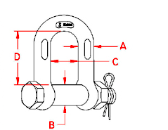 Bolt Chain Shackle Drawing