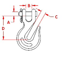 Clevis Grab Hook Drawing