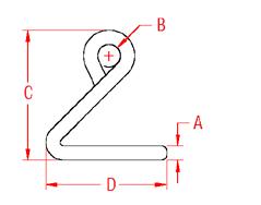 Cunningham Hook Drawing