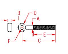 Custom Rod End Drawing
