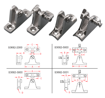 Deck Hinges 90 Degree Concave