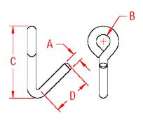 Downhaul Hook Drawing