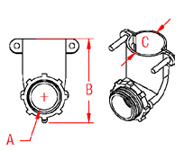 Elbow Connector  Drawing