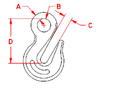 Eye Grab Hook Drawing
