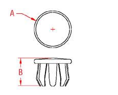 Flat End Cap Drawing