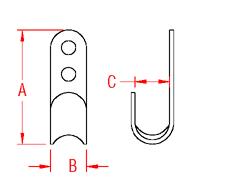 Flat Hook Drawing