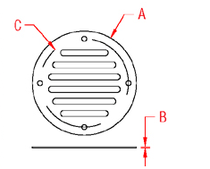 Floor Drain Plate Drawing