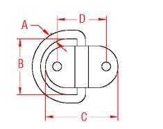 Folding Pad Eye Drawing