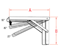 Folding Table Bracket Drawing