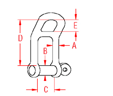 Headboard Shackle Drawing