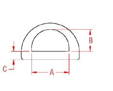 Heavy Duty  D  Ring Drawing