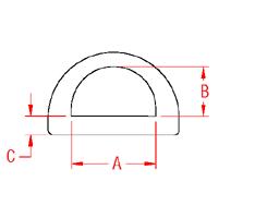 Heavy Duty  D  Ring Drawing