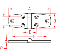 Heavy Duty Door Hinge   Equal Drawing