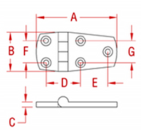 Heavy Duty Door Hinge Unequal Drawing