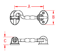 Heavy Duty Door Hook Set Drawing