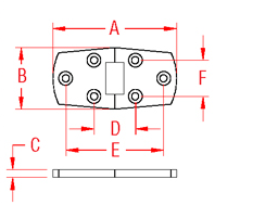 Heavy Duty Flush Door Hinge Drawing
