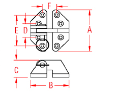 Heavy Duty Hatch Hinge Standard Drawing