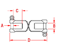 Heavy Duty Jaw and Jaw Swivel Drawing