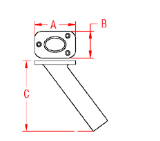 Heavy Duty Top Rod Holder Drawing