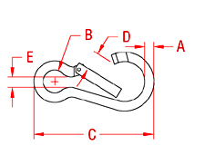 Key Lock Spring Clip WIRE FORMED Drawing