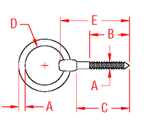 Lag Ring Bolt Drawing