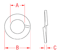 Lock Washer Split Drawing