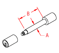 Locking Trailer Pin Drawing