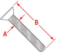 Machine Screw Flathead Drawing