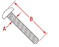 Machine Screw Panhead Drawing
