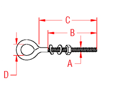 Metric Welded Eye Bolt Drawing