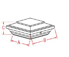 Micro Star™ LED Post Cap  Drawing