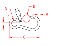 Open Out Slide Lock Clip Drawing
