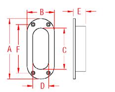 Oval Hawse Pipe Drawing