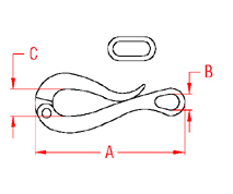 Pelican Hook with Slide Drawing