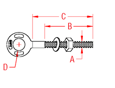 Mertic Plain Eye Bolt Drawing