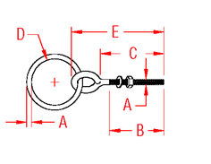 Plain Ring Bolt Drawing