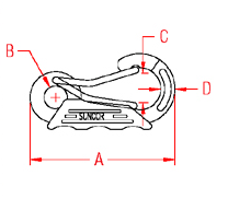 Poly Grip Harness Clip Drawing