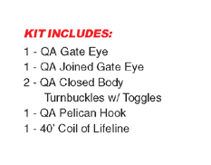 Quick Attach™ Lifeline Kit w Gate Closed Body