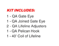 Quick Attach™ Lifeline Kit w Gate Lifeline Adjuster