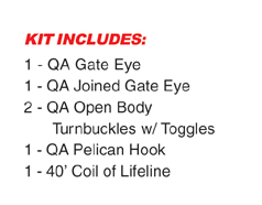 Quick Attach™ Lifeline Kit w Gate Open Body
