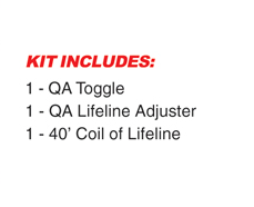Quick Attach™ Lifeline Kit w out Gate Lifeline Adjuster
