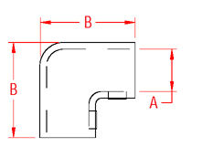 Rail Elbow Drawing