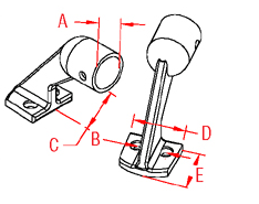 Rail Stanchion End Drawing