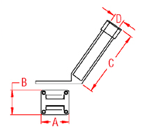 Removable Rod Holder Drawing
