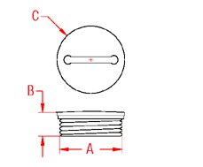 Replacement Cap Drawing