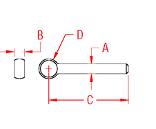 Rod End Blank Drawing